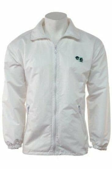 Unisex Lawn Bowls Jacket Mesh Lined Bowling Coat with Bowls Logo Waterproof